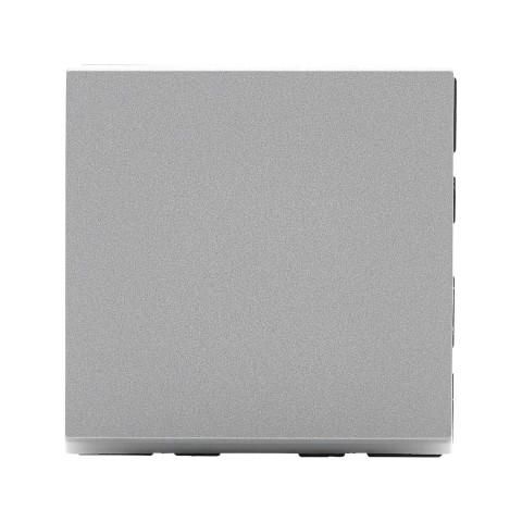 Wechselschalter , Baugröße: 22,5x45 mm, Kunststoff, Farbe: alusilber | W45KS-SK-2
