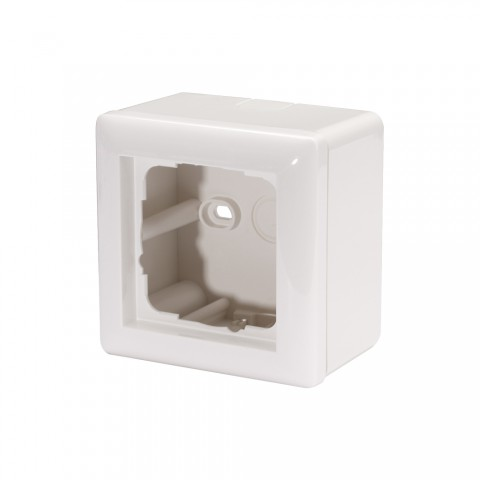 Surface-mounted for 1 x 55x55-module , scale: 55x55 mm, plastic, colour: pure white