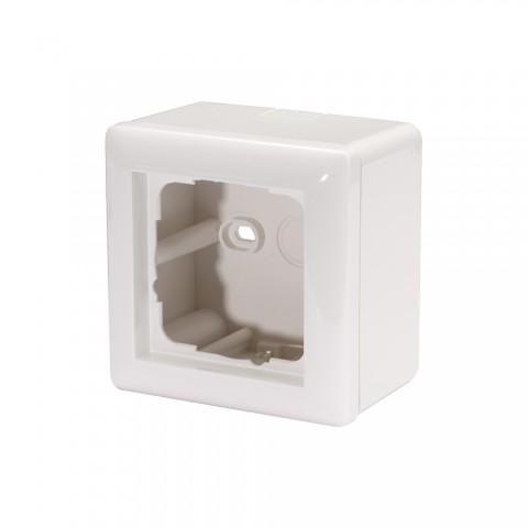 Aufputz-Gehäuse für 1 x 55x55-Modul , Baugröße: 55x55 mm, Kunststoff, Farbe: reinweiß