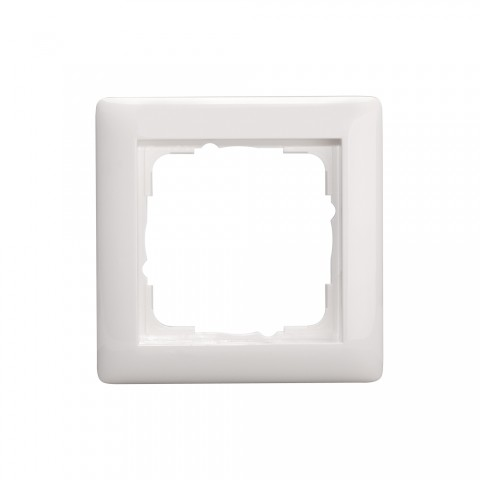 Switch frames, 1-way , scale: 55x55 mm, plastic, colour: pure white