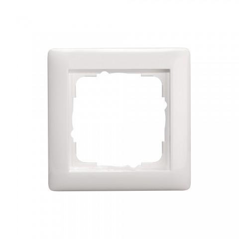 Schalterrahmen 1-fach , Baugröße: 55x55 mm, Kunststoff, Farbe: reinweiß