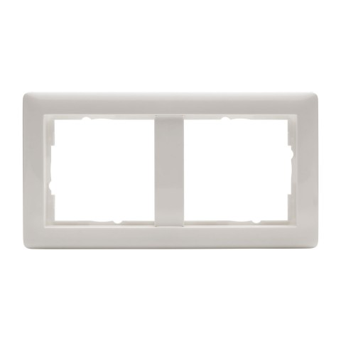 Switch frames, 2-way , scale: 55x55 mm, plastic, colour: pure white