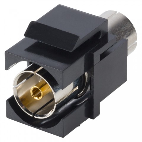 Antenna, 2-pole , plastic-, Patch-female connector, nickel plated contact(s), Keystone Clip-In, black