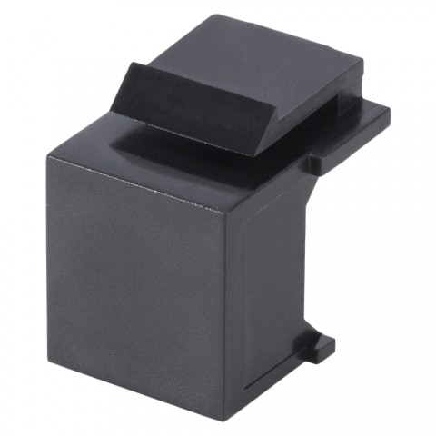 Cover, plastic-, Keystone Clip-In, black