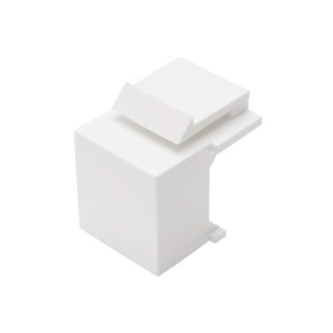 Abdeckung, Kunststoff-Einbau, vernickelte(r) Kontakt(e), Keystone Clip-In, weiß
