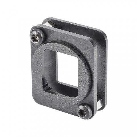 D-flange suitable with Keystone seat, for rear mounting for suitable for keystones