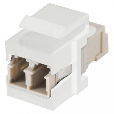 LC / LC female, plastic-, Patch-, Keystone Clip-In, white