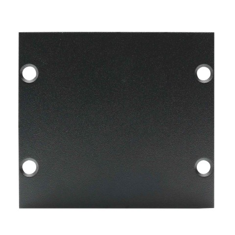 Side panel blank panel, 2 HE, 1 BE; depth: 80 mm for SYSBOXX, colour: anthracite, RAL 7016