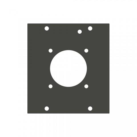 Seitenblech LK24-Loch, 2 HE; Tiefe: 80 mm für SYSBOXX, Farbe: anthrazit, RAL 7016