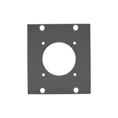 Seitenblech LK37-Loch, 2 HE; Tiefe: 80 mm für SYSBOXX, Farbe: anthrazit, RAL 7016