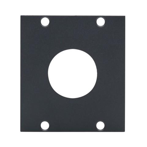 Seitenblech PG29-Loch, 2 HE; Tiefe: 80 mm für SYSBOXX, Farbe: anthrazit, RAL 7016