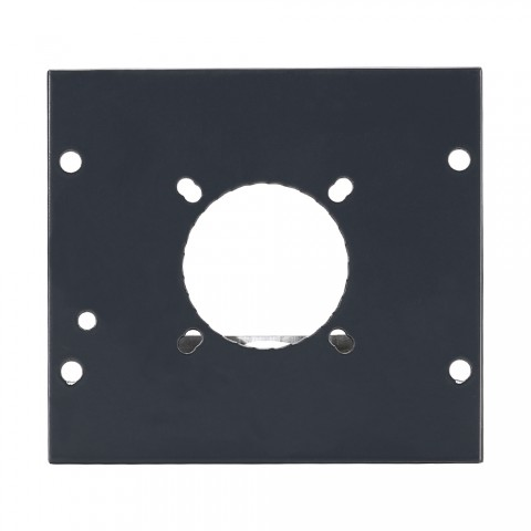 Side panel Hole for NL4, NL8MPR, EP, LK08, 2 HE; depth: 80 mm for SYSBOXX, colour: anthracite, RAL 7016