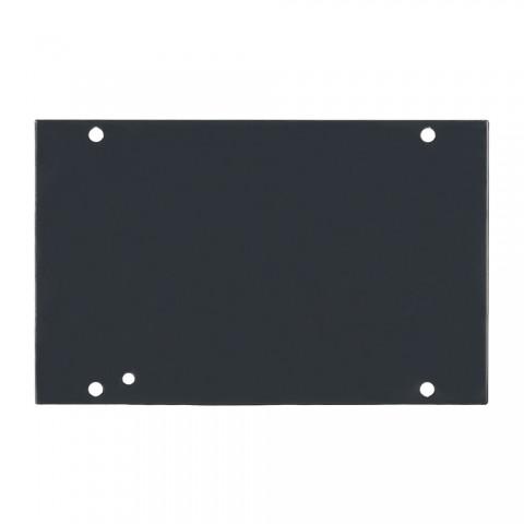Seitenblech Leerblech, 2 HE; Tiefe: 140 mm für SYSBOXX, Farbe: anthrazit, RAL 7016