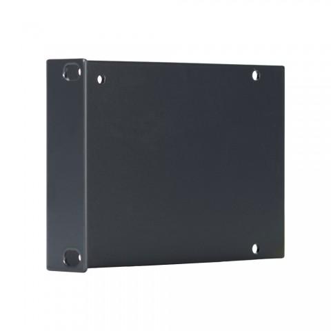 Seitenblech Leerblech mit Rackohr, 2 HE; Tiefe: 140 mm für SYSBOXX, Farbe: anthrazit, RAL 7016