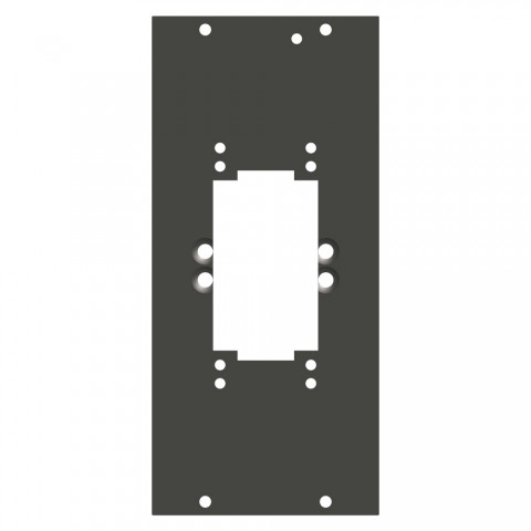 Seitenblech Rechteck-MP06 / MP10-Ausschnitt, 4 HE; Tiefe: 80 mm für SYSBOXX, Farbe: anthrazit, RAL 7016