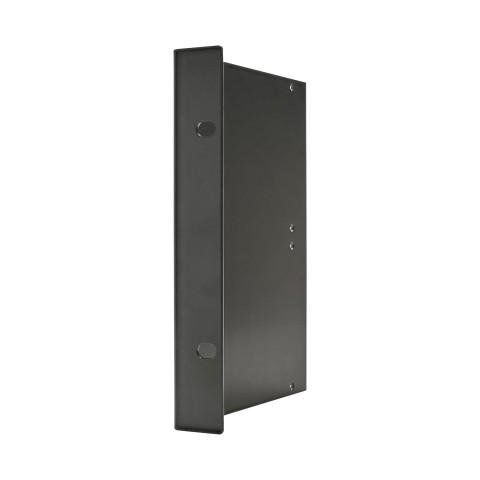 Seitenblech Leerblech mit Rackohr, 4 HE; Tiefe: 140 mm für SYSBOXX, Farbe: anthrazit, RAL 7016