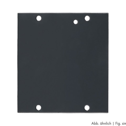 Side panel blank panel, 8 HE; depth: 80 mm for SYSBOXX, colour: grey