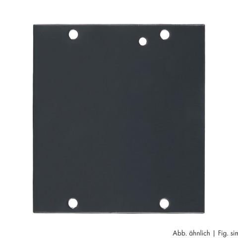 Seitenblech Leerblech, 8 HE; Tiefe: 140 mm für SYSBOXX, Farbe: anthrazit, RAL 7016