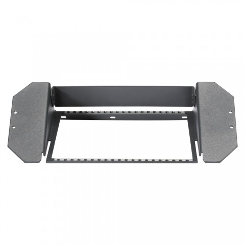 Mounting frame for floor tank , 2 HE, 3 BE for SYSBOXX-Module; with 25 front panel screws, colour: anthrazith, RAL 7016