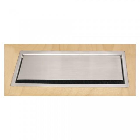 Tischtank Edelstahloptik, 2 HE, 9 BE; Tiefe: 193 mm für SYSBOXX-Module, Farbe: Edelstahlfarben, RAL 7048