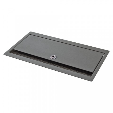 table insert box anthracite, lockable, 2 HE, 9 BE; depth: 193 mm for SYSBOXX-Module, colour: anthracite, RAL 7016