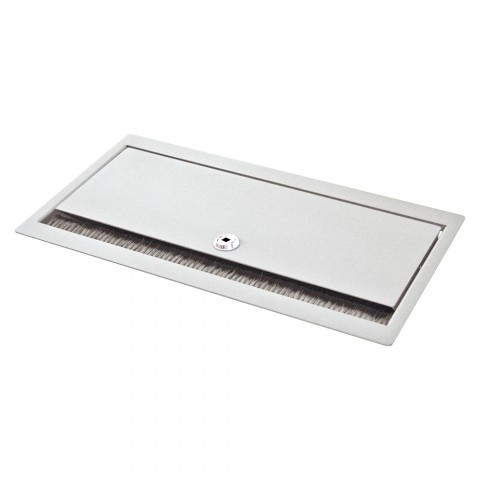 table insert box white, lockable, 2 HE, 9 BE; depth: 193 mm for SYSBOXX-Module, colour: pure white, RAL 9010