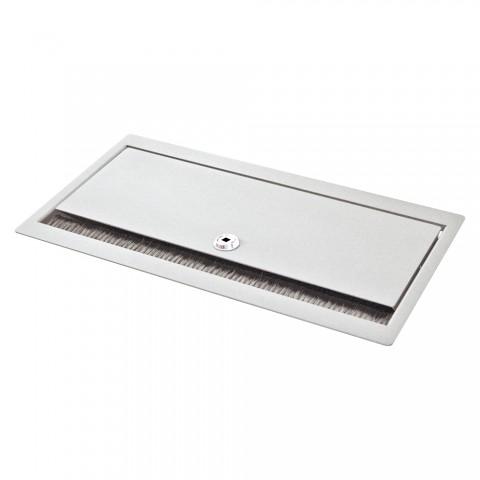 Tischtank weiß, abschliessbar, 2 HE, 9 BE; Tiefe: 193 mm für SYSBOXX-Module, Farbe: reinweiss, RAL 9010