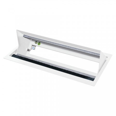 table insert box white, 2 HE, 9 BE; depth: 193 mm for SYSBOXX-Module, colour: pure white, RAL 9010