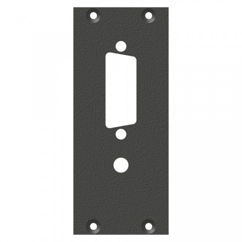 front panel DVI insert, 2 HE, 1 BE for SYS-series, Galvanized sheet steel, colour: anthracite, RAL 7016