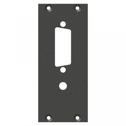 Frontblech DVI-Ausschnitt, 2 HE, 1 BE für SYS-Gehäuseserien, verzinktes Stahlblech, Farbe: anthrazit, RAL 7016