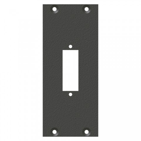 front panel fibre glass combi insert, 2 HE, 1 BE for SYS-series, Galvanized sheet steel, colour: anthracite, RAL 7016