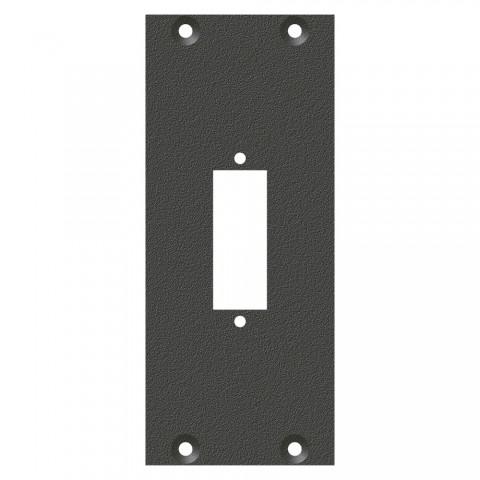 Frontblech Glasfaser-Kombi-Ausschnitt, 2 HE, 1 BE für SYS-Gehäuseserien, verzinktes Stahlblech, Farbe: anthrazit, RAL 7016