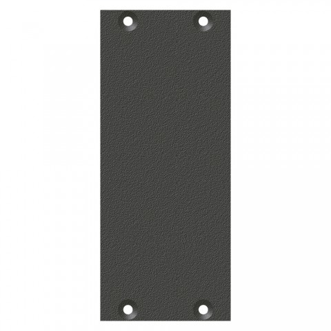 front panel blank panel, 2 HE, 1 BE for SYS-series, Galvanized sheet steel, colour: anthracite, RAL 7016