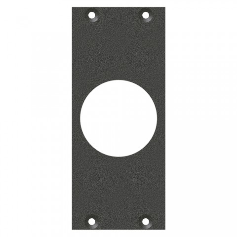 front panel PG21-Hole, 2 HE, 1 BE for SYS-series, Galvanized sheet steel, colour: anthracite, RAL 7016