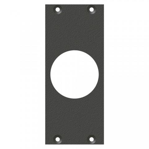 Frontblech PG21-Loch, 2 HE, 1 BE für SYS-Gehäuseserien, verzinktes Stahlblech, Farbe: anthrazit, RAL 7016
