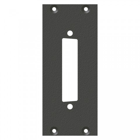 front panel SUB-D25 insert, 2 HE, 1 BE for SYS-series, Galvanized sheet steel, colour: anthracite, RAL 7016