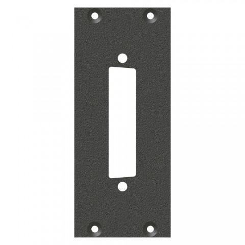 Frontblech SUB-D25-Ausschnitt, 2 HE, 1 BE für SYS-Gehäuseserien, verzinktes Stahlblech, Farbe: anthrazit, RAL 7016