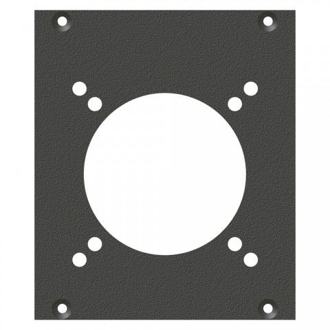 front panel CEE3-Hole, 2 HE, 2 BE for SYS-series, Galvanized sheet steel, colour: anthracite, RAL 7016