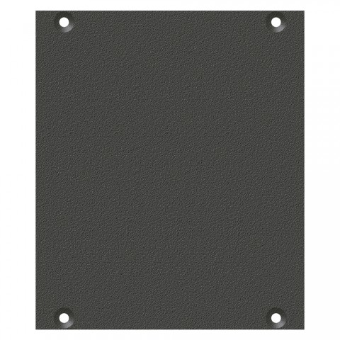 front panel blank panel, 2 HE, 2 BE for SYS-series, Galvanized sheet steel, colour: anthracite, RAL 7016