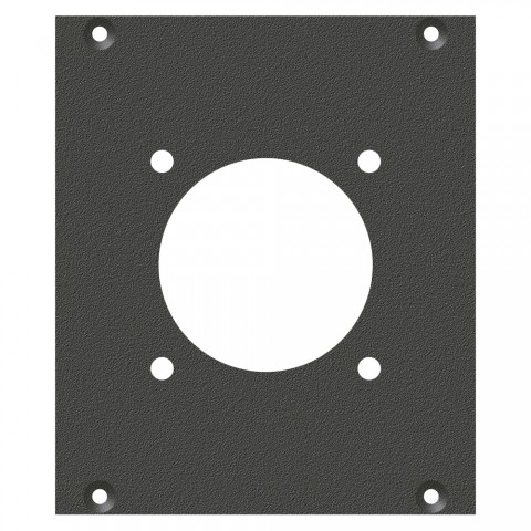front panel LK24-Hole, 2 HE, 2 BE for SYS-series, Galvanized sheet steel, colour: anthracite, RAL 7016