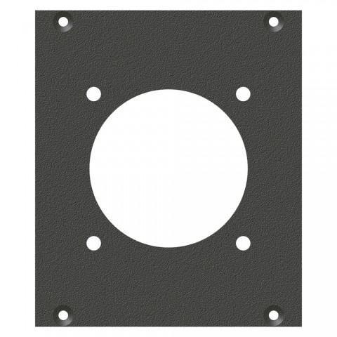 Frontblech LK37-Loch, 2 HE, 2 BE für SYS-Gehäuseserien, verzinktes Stahlblech, Farbe: anthrazit, RAL 7016