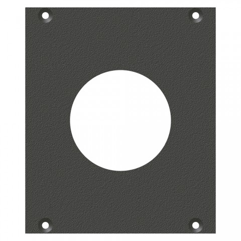 front panel PG29-Hole, 2 HE, 2 BE for SYS-series, Galvanized sheet steel, colour: anthracite, RAL 7016