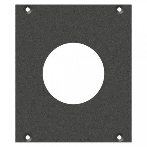 Frontblech PG29-Loch, 2 HE, 2 BE für SYS-Gehäuseserien, verzinktes Stahlblech, Farbe: anthrazit, RAL 7016
