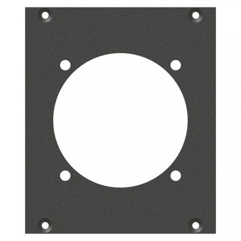 Frontblech Socapex19-Loch, 2 HE, 2 BE für SYS-Gehäuseserien, verzinktes Stahlblech, Farbe: anthrazit, RAL 7016