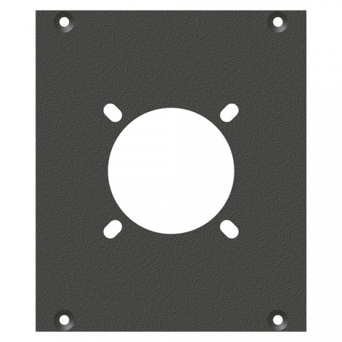 front panel Hole for NL4, NL8MPR, EP, LK08, 2 HE, 2 BE for SYS-series, colour: anthracite, RAL 7016