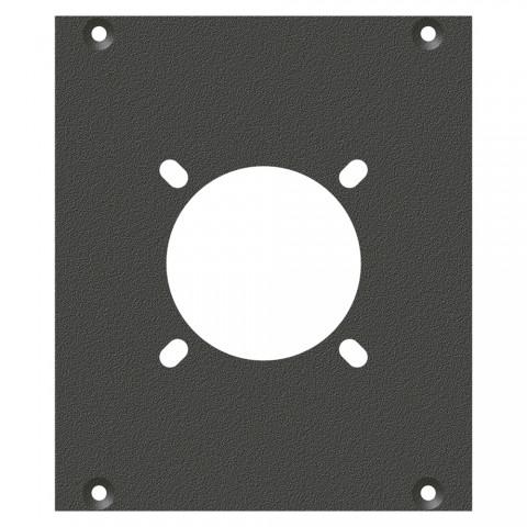Frontblech Loch für NL4, NL8MPR, EP, LK08, 2 HE, 2 BE für SYS-Gehäuseserien, verzinktes Stahlblech, Farbe: anthrazit, RAL 7016