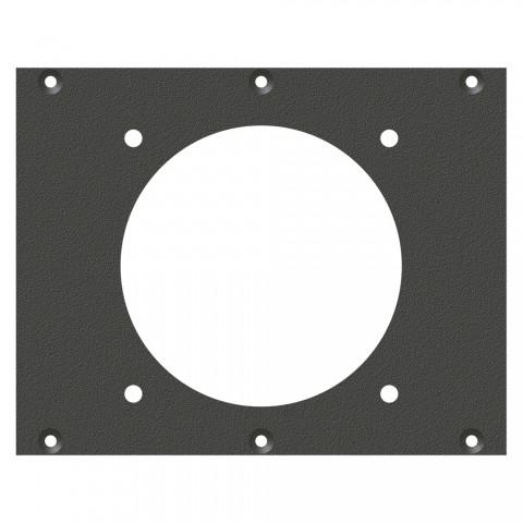Frontblech CEE5-Loch, 2 HE, 3 BE für SYS-Gehäuseserien, verzinktes Stahlblech, Farbe: anthrazit, RAL 7016