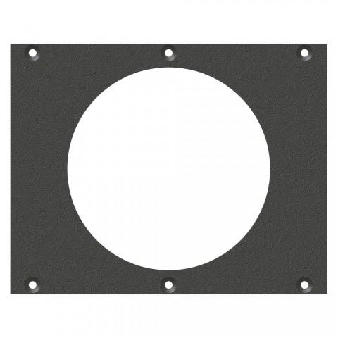Frontblech Hohlwanddose-Ausschnitt, 2 HE, 3 BE für SYS-Gehäuseserien, verzinktes Stahlblech, Farbe: anthrazit, RAL 7016