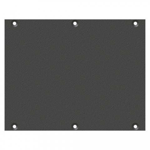 front panel blank panel, 2 HE, 3 BE for SYS-series, Galvanized sheet steel, colour: anthracite, RAL 7016