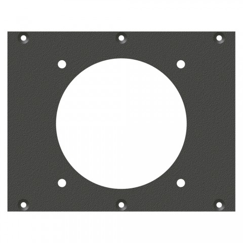 front panel LK85 / LK150-Hole, 2 HE, 3 BE for SYS-series, Galvanized sheet steel, colour: anthracite, RAL 7016